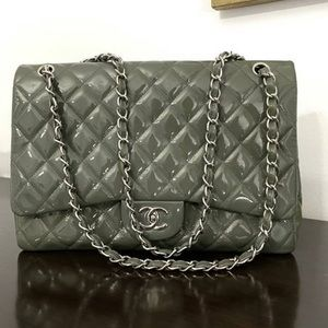 Chanel Maxi Patent Leather Bag